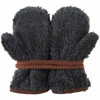 Plüsch Handschuhe Biobaumwolle anthrazit