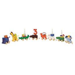 Geburtstagszug mit 8 tiereschen Anhängern