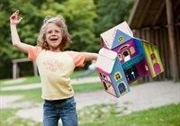 Bestseller! Puppenhaus zum Stecken, malen & spielen