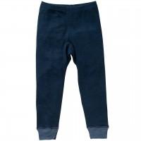 Wolle Seide Leggings dunkelblau