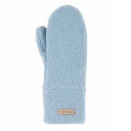 Bio Wolle Kinder Handschuhe pastell blau