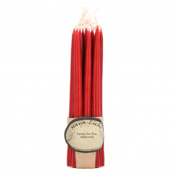 Maya Licht –Palmölfreie Kerzen 14cm 10er Set dunkelrot