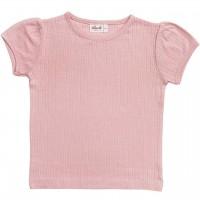 Ajour Mädchen T-Shirt in rosa