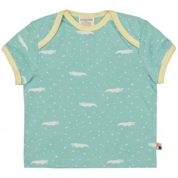 Kurzarm Shirt Krokodile mint