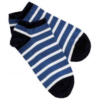Sneaker Socken navy gestreift