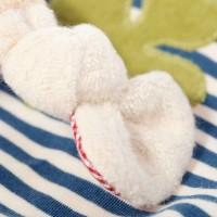 Vorschau: Bio Schmusetuch Hase mit Glückskleeblatt