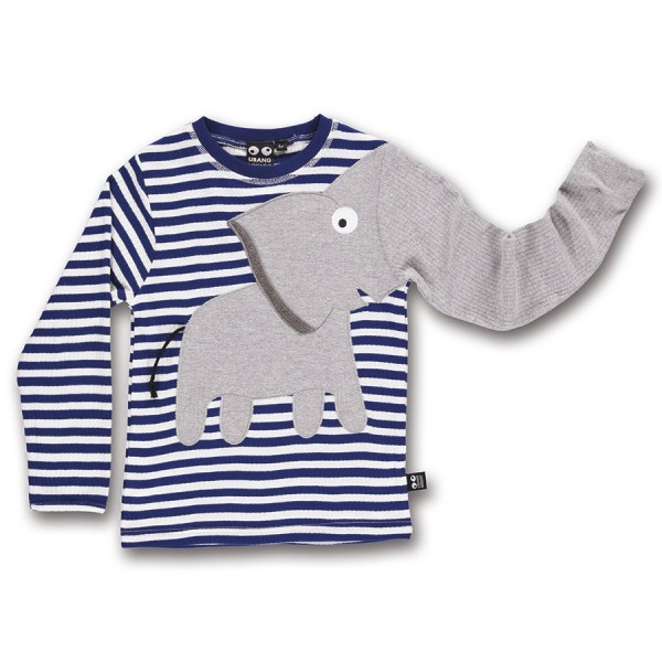 Elefanten Langarmshirt blau gestreift