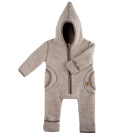 Fleece Overall Wolle beige