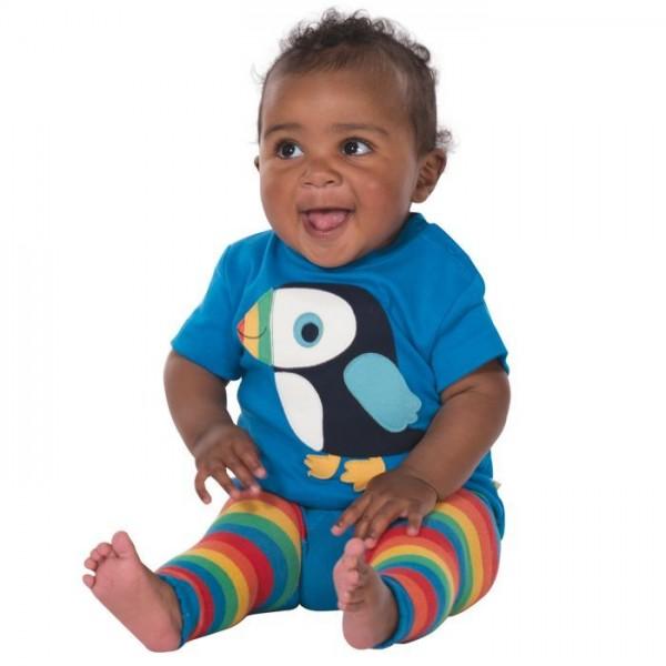 Bio Strickleggings für Babys mit Po Motiv Papagei