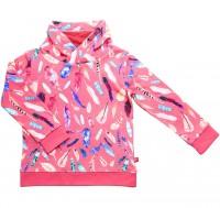 Sweat Pullover Feder-Druck