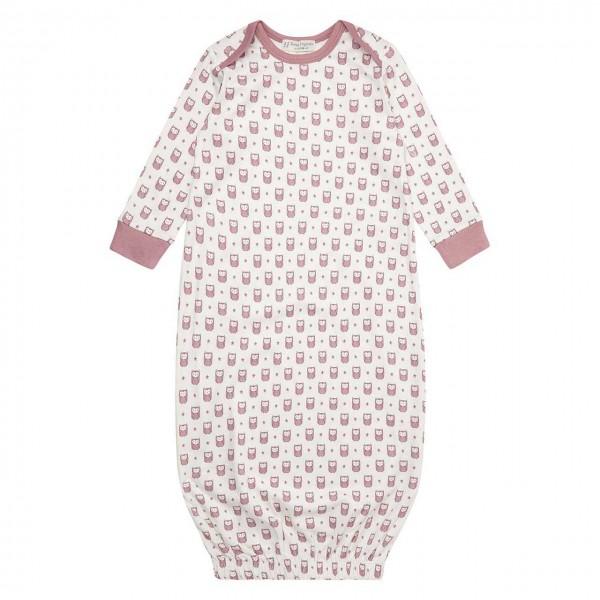 Bio Schlafhemd Babyschlafsack Eulen rosa