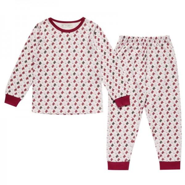 Mädchen Bio Pyjama mit Arm- und Fussbündchen - Pinguine