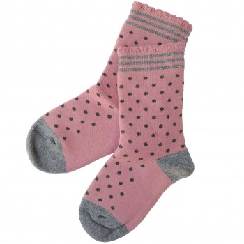 Mädchen Frotteesocken Punkte in rosa
