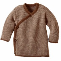 Baby Wickel-Pullover Wolle braun