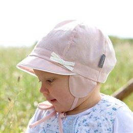Baby Capi Sommermütze mit Ohrenschutz rosa