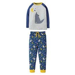 Wolf um Mitternacht bequemer Schlafanzug