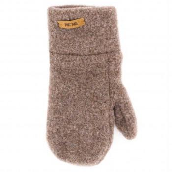 Walnuss-braune Kinder Handschuhe Wolle