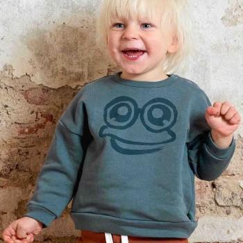 Sweatshirt mit Frosch rauchblau