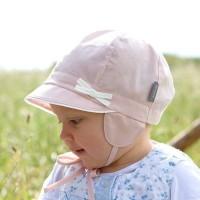 Vorschau: Baby Capi Sommermütze mit Ohrenschutz rosa