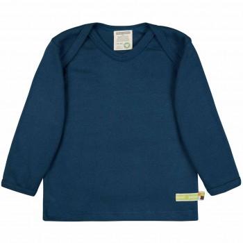 Griffiges Ripp Shirt langarm in dunkelblau