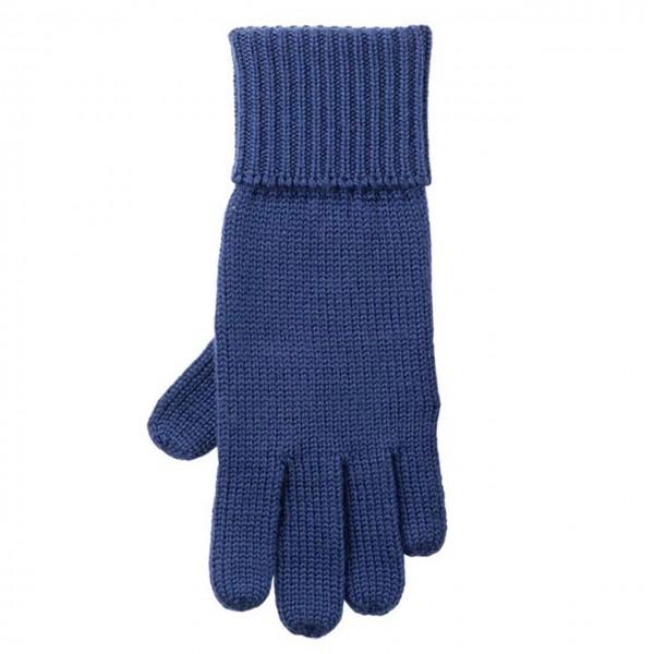 Strick Fingerhandschuhe nautic-blau