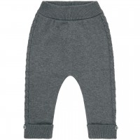 Baby Strickleggings in dunkelgrau