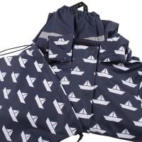 Vorschau: Kinder Regenanzug SET ungefüttert + Tasche Boote