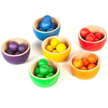 Bowls & marbles – kreatives Holzspielzeug Set ab 3 Jahren