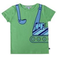 Shirt kurzarm Bagger grün
