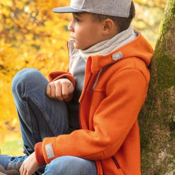 Walk Outdoor Jacke gefüttert in orange