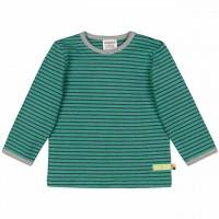Ringel Shirt langarm dunkel grün geschmirgelt