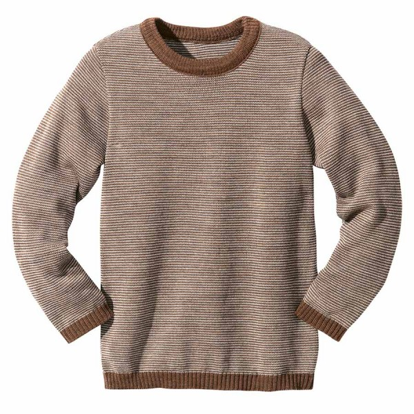 Wolle Pullover Melange chocolate