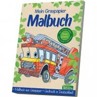 Mein Graspapier Malbuch - Feuerwehr