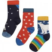 Socken 3er Pack Eisbär dunkelblau