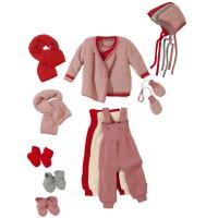 Vorschau: Baby Wickelpullover disana rosa