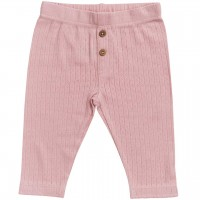 Edle Baby Ajour Leggings in rosa