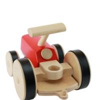 Vorschau: Holz Traktor creamobil - rot