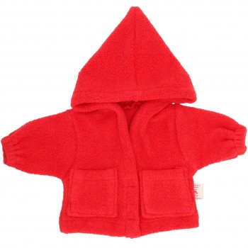 Puppenkleidung: rote Puppenjacke