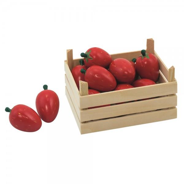 Obstkiste für Kaufmannsladen - Erdbeeren