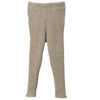 Mitwachsende Strick Leggings 100% Merino Schurwolle grau