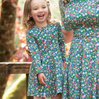 Blumen Mädchen Kleid langarm