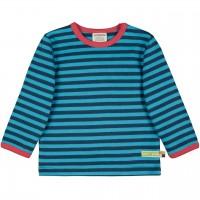Dickeres Jersey Shirt dunkelblau/türkis langarm