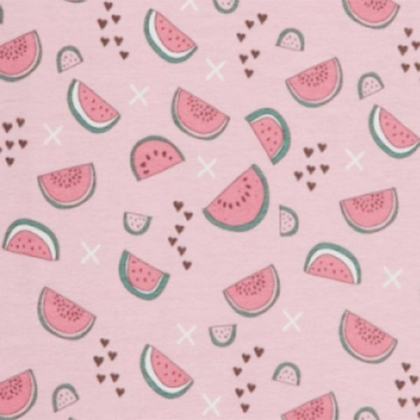 Bio Strampler ohne Arm Wassermelone