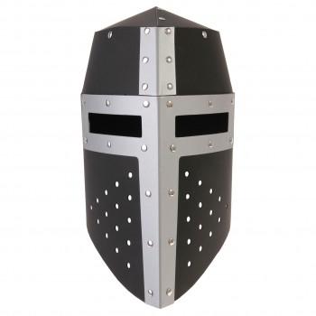 Ritterhelm Aragon schwarz/silber aus Spezialkarton