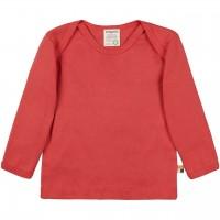 Leichtes Ripp Shirt langarm in rot