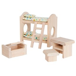 Kinderzimmer naturbelassen Puppenhaus Zubehör