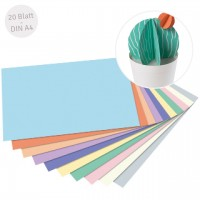 Pastell-Block Tonpapier & Fotokarton DIN A4 20 Blatt