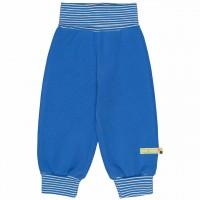 Jogginghose Bündchen uni blau