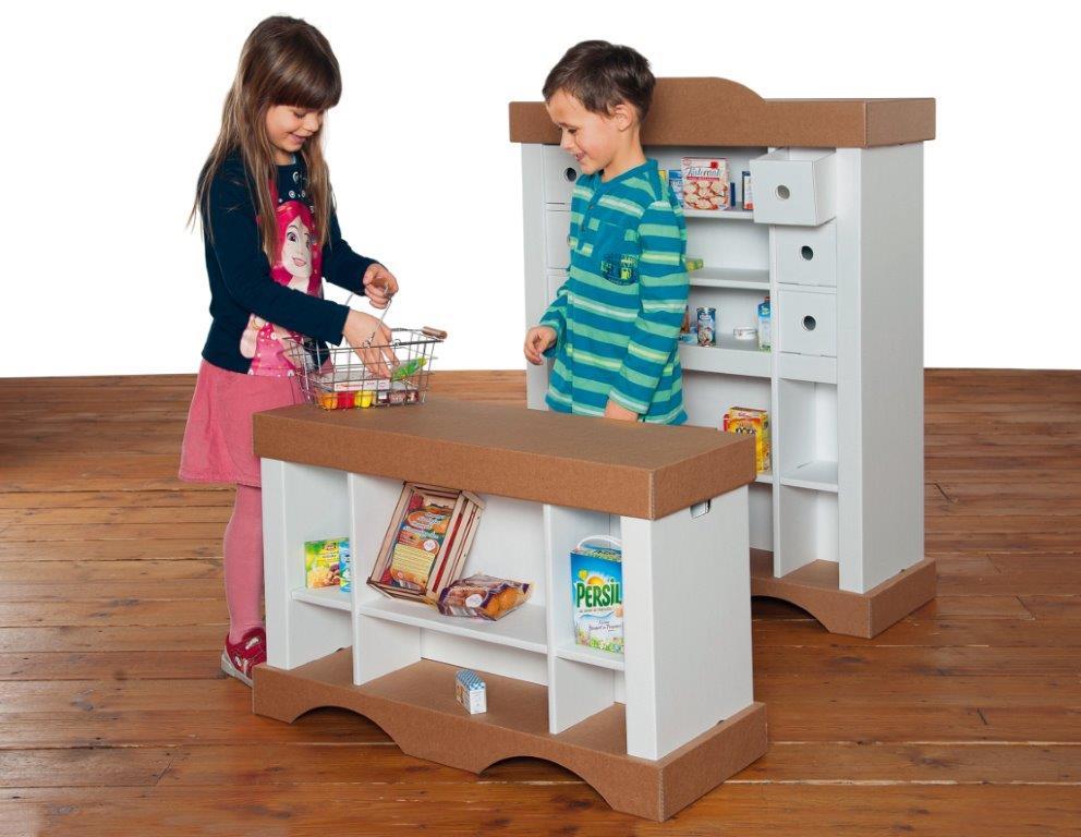 xxl kaufmannsladen zum stecken malen spielen greenstories. Black Bedroom Furniture Sets. Home Design Ideas