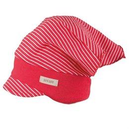 Kopftuch mit elastischem Stirnband himbeer-rot Ringel